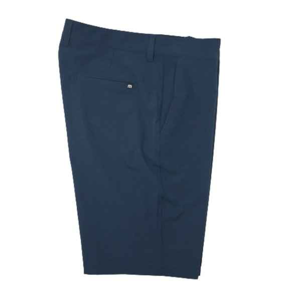 Travis Mathew Blue Flat Performance Golf Shorts 36